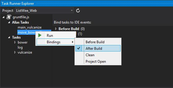 Grunt Tasks in Task Runner Explorer