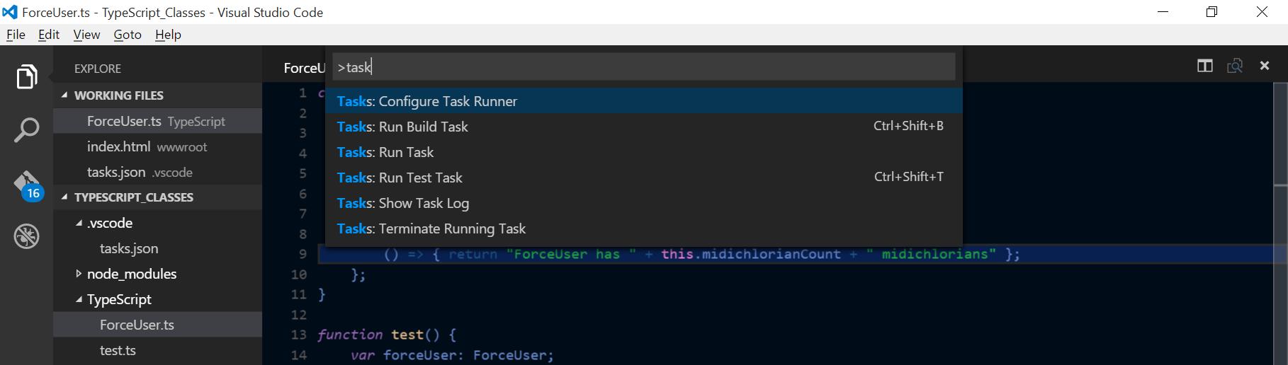 VS Codes Command Palette