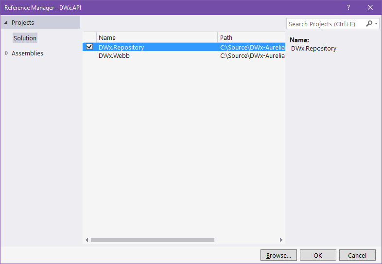 VS2015 Add References