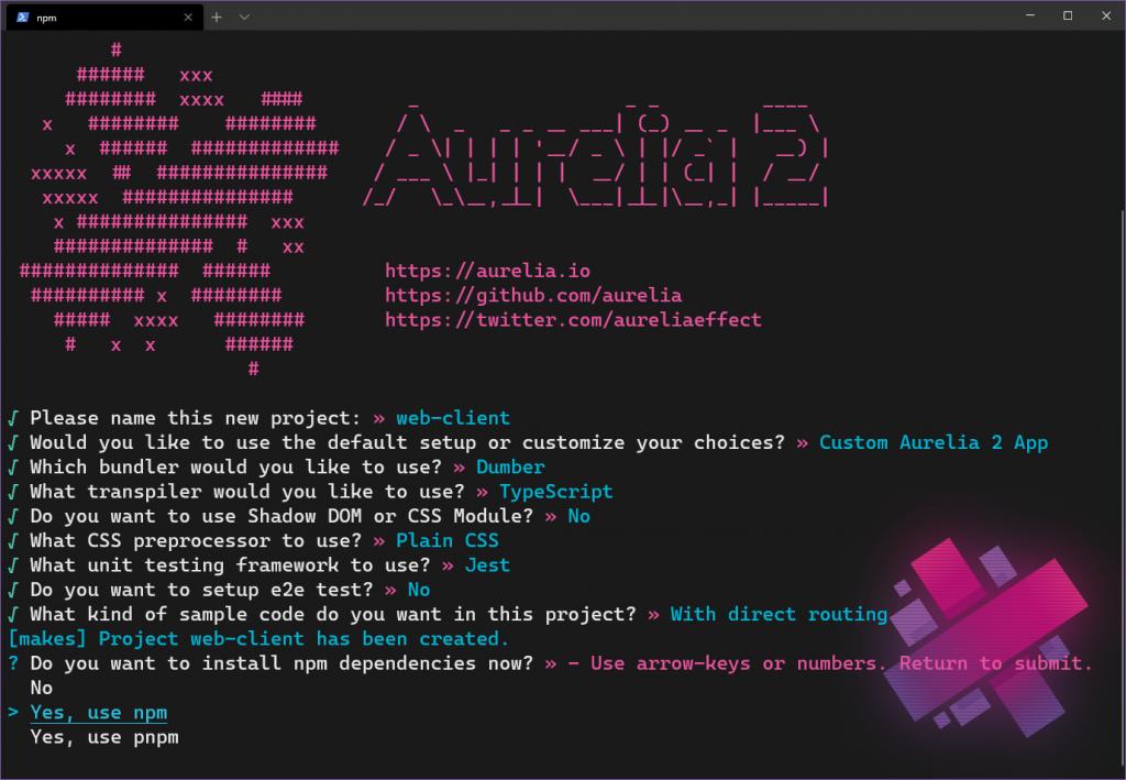 au2 project setup